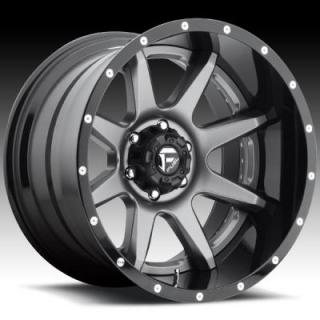 RAMPAGE D238 ANTHRACITE and GLOSS BLACK RIM by FUEL TWO-PIECE SERIES