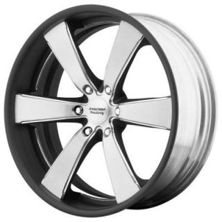 AMERICAN RACING WHEELS  VN476 SLATE BRUSHED CENTER MATTE BLACK RIM