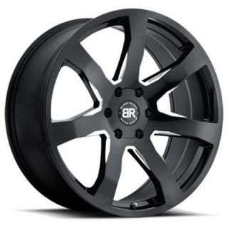MOZAMBIQUE GLOSS BLACK RIM with MILLED SPOKES from BLACK RHINO WHEELS