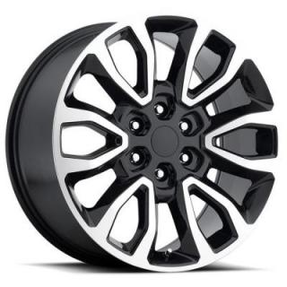FACTORY REPRODUCTIONS WHEELS  FORD F150 RAPTOR STYLE 53 BLACK MACHINED FACE RIM