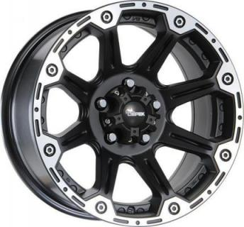SPECIAL BUY WHEELS  DC TORQUE FLAT BLACK RIM with MACHINED LIP DISPLAY SET 1 SET ONLY