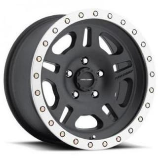 SPECIAL BUY WHEELS  PRO COMP ALLOYS SERIES 5129 SATIN BLACK RIM with MACHINED LIP