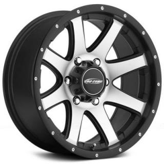 REFLEX SERIES 3186 BLACK RIM with MACHINED FACE by PRO COMP ALLOYS WHEELS