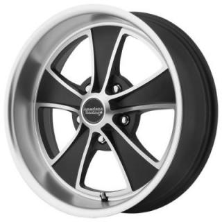 AMERICAN RACING WHEELS  VN808 MACH 5 SATIN BLACK MACHINED RIM