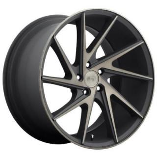 NICHE WHEELS  INVERT M163 BLACK RIM with MACHINED FACE DDT
