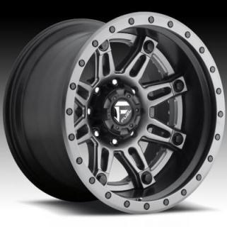 HOSTAGE II D232 MATTE ANTHRACITE RIM with MATTE BLACK LIP by FUEL TWO-PIECE SERIES