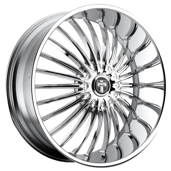 SPECIAL BUY WHEELS  DUB SUAVE S140 CHROME RIM PPT DISPLAY SET 1 SET ONLY