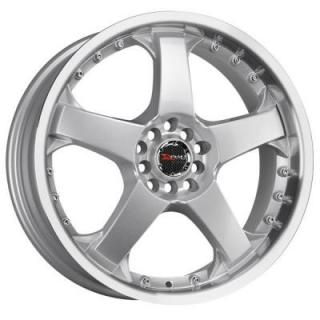 DRAG WHEELS  DR11 SILVER RIM with MACHINED LIP
