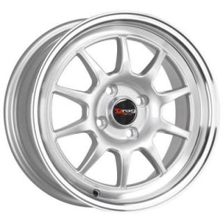 DRAG WHEELS  DR16 SILVER RIM with MACHINED LIP