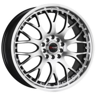 DRAG WHEELS  DR19 GLOSS BLACK RIM with MACHINED FACE
