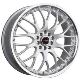 DR19 SILVER RIM with MACHINED LIP by DRAG WHEELS