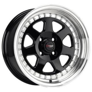DR27 GLOSS BLACK RIM with MACHINED LIP by DRAG WHEELS