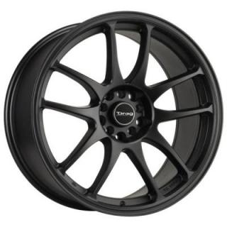 DR31 FLAT BLACK FULL PAINTED RIM by DRAG WHEELS