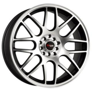 DR34 FLAT BLACK RIM with MACHINED FACE  by DRAG WHEELS