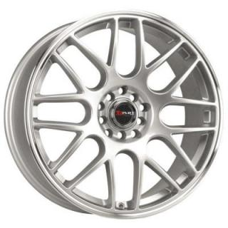 DR34 SILVER RIM with MACHINED LIP from DRAG WHEELS