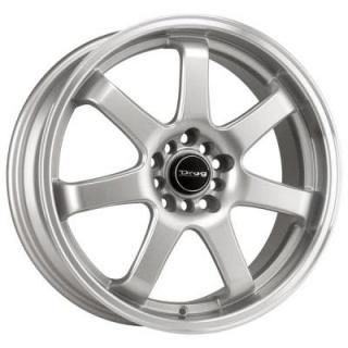 DR35 SILVER RIM with MACHINED LIP by DRAG WHEELS