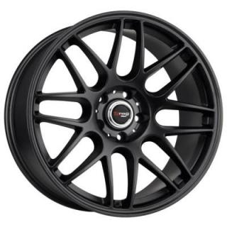 DRAG WHEELS  DR37 FLAT BLACK FULL PAINTED RIM