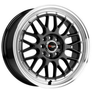 DR44 GLOSS BLACK RIM with MACHINED LIP from DRAG WHEELS
