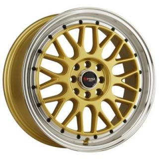 DR44 GOLD RIM with MACHINED LIP and BLACK RIVETS from DRAG WHEELS