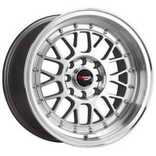 DR44 SILVER RIM with MACHINED FACE by DRAG WHEELS