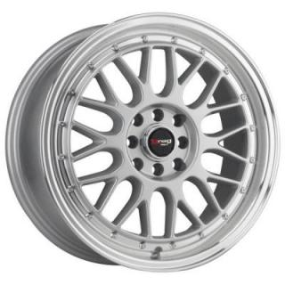 DR44 SILVER RIM with MACHINED LIP by DRAG WHEELS