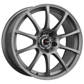 DR49 CHARCOAL GRAY FULL PAINTED RIM by DRAG WHEELS