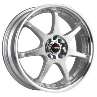 DRAG WHEELS  DR51 SILVER RIM with MACHINED LIP