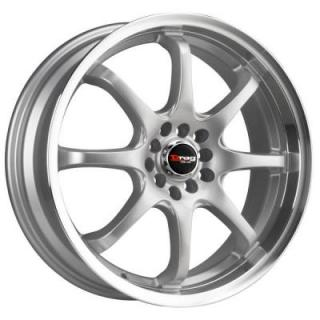 DRAG WHEELS  DR55 SILVER RIM with MACHINED LIP