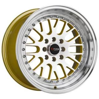 DR58 GOLD RIM with MACHINED LIP by DRAG WHEELS