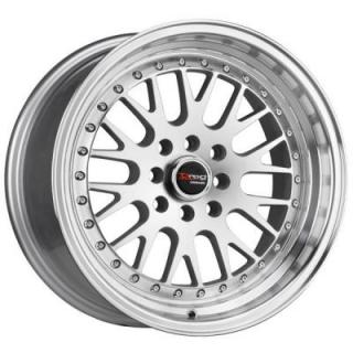 DR58 SILVER RIM with MACHINED LIP by DRAG WHEELS