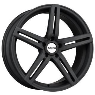 DRAG WHEELS  DR60 FLAT BLACK FULL PAINTED RIM