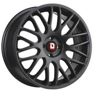 DR61 FLAT BLACK FULL PAINTED RIM by DRAG WHEELS