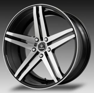 SPECIAL BUY WHEELS  VERDE PARALLAX GLOSS BLACK RIM with MACHINED FACE and LIP PPT DISPLAY SET REAR PAIR ONLY