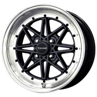 DR20 GLOSS BLACK RIM with MACHINED LIP by DRAG WHEELS