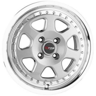 DR27 SILVER RIM with MACHINED LIP by DRAG WHEELS