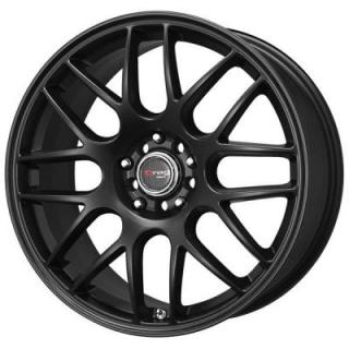 DRAG WHEELS  DR34 FLAT BLACK FULL PAINTED RIM