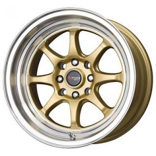 DR54 GOLD RIM with MACHINED LIP by DRAG WHEELS