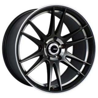 OP OPTIMO MATTE BLACK RIM with MACHINED LIP from ADVANTI WHEELS