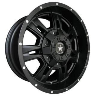 REBEL RACING WHEELS  BRUTE MATTE BLACK RIM