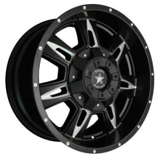 REBEL RACING WHEELS  BRUTE MATTE BLACK RIM with BALL MILL SPOKE