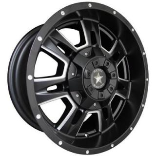 BRUTE MATTE BLACK RIM with BALL MILL WINDOW by REBEL RACING WHEELS