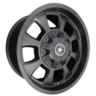 REBEL RACING WHEELS  TOMMYGUN MATTE BLACK RIM