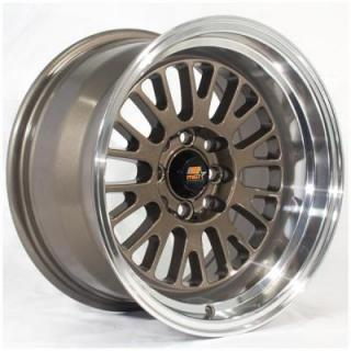 MST WHEELS  MT02 BRONZE RIM with MACHINED LIP