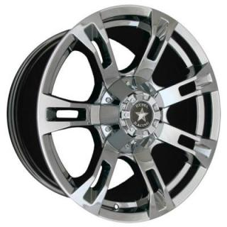 REBEL RACING WHEELS  BUCKSHOT PVD CHROME RIM