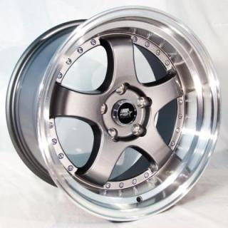 MT07 GUNMETAL RIM with MACHINED LIP from MST WHEELS