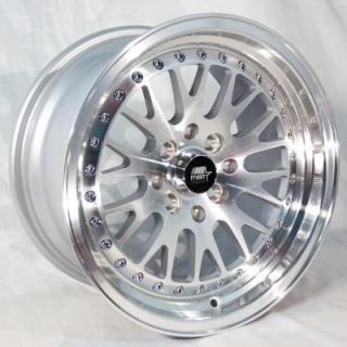 MT10 SILVER RIM with MACHINED FACE from MST WHEELS
