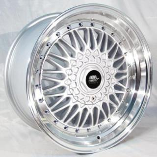 MT13 SILVER RIM with MACHINED LIP by MST WHEELS