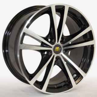 SABER GLOSS BLACK RIM with MACHINED FACE by MST WHEELS