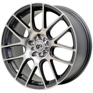 GFX WHEELS  G20 GUNMETAL RIM with MACHINED FACE