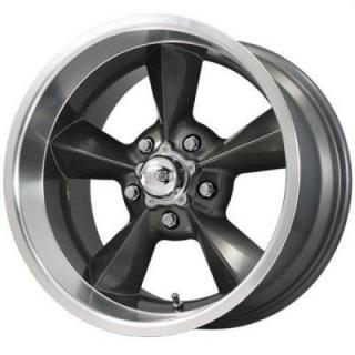 SPECIAL BUY WHEELS  B&G RODWORKS OLD SCHOOL GUNMETAL RIM with MACHINED LIP